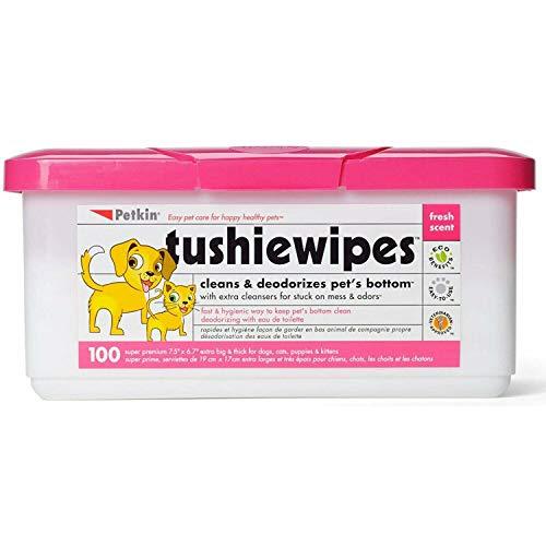 Petkin Dog & Cat Tushie Wipes