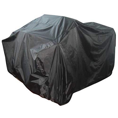Yardwe Abdeckplane für Rasenmäher Rasentraktor 210D Oxford-Stoff UV-beständig wasserdichte Schutzhülle für Aufsitzmäher Abdeckung Garten-Outdoor-Schutzhülle 220x106x98cm