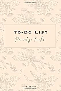 To-Do List - Prioritize Tasks - Planner: Track, organize your Agenda | 140 pages with Checkboxes, Priority Tasks, Importan...