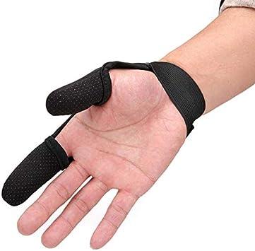 Millya UK Anti-Slip Fishing Gloves Quick Dry Fishing 2 Finger Protector Elastic Band Thumb Index Finger Stall Protector