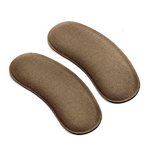 Fletion 5 paires Éponge douce Dos des talons hauts Chaussures invisibles Résistant aux défauts Demi-jambe Adhésif pour les pieds Adhésif pour le talon Gilets Protecteurs Blister Pad for Shoes