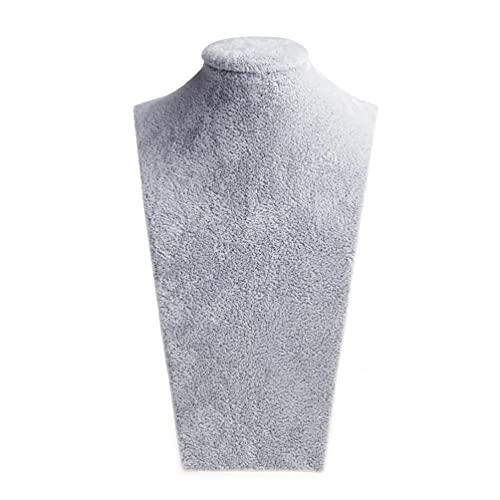 Yushu Maniquí de terciopelo busto joyería collar colgante cuello modelo soporte de exhibición soporte de exhibición
