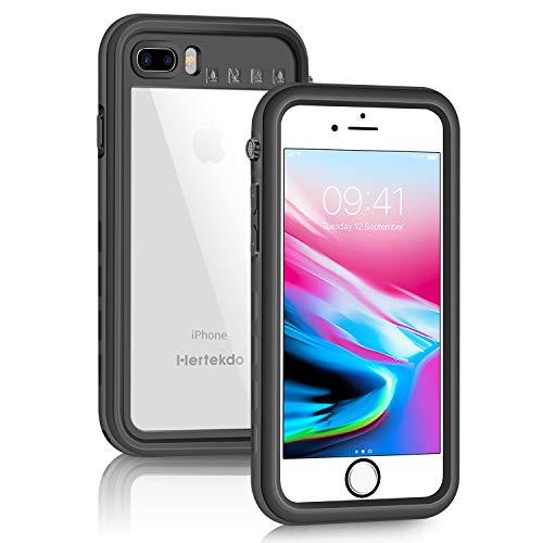 Hertekdo Funda para iPhone 8 Plus Funda para iPhone 7 Plus, IP68 Funda Impermeable para iPhone 7 Plus/8 Plus con Kickstand Absorción de Choque Resistente iPhone 8 Plus Funda iPhone 7 Plus Funda Ideal para Buceo, Esquí y Natación