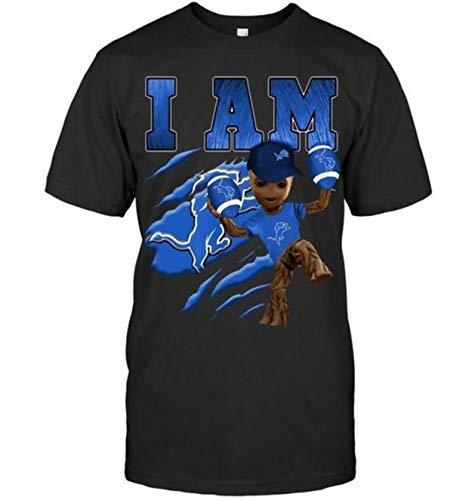 I Am GRO.ot Loves Detroit Li.ons Football Fan Funny Classic Unisex T Shirt, Hoodie, Hooded Sweatshirt, Long Sleeves Shirt, Sweatshirt 3XL 4XL 5XL Included White