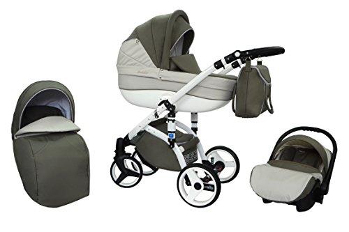 Kombi Kinderwagen Travel System Wiejar Evado T05 3in1 Buggy Sportwagen Babyschale Autositz 0-13kg + Zubehör