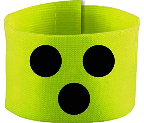 größenverstellbare Armbinde/Mediaband bedruckt mit Blindenpunkten (JUNIOR 15-26 cm) (Farbe neongelb)