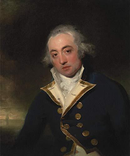 Berkin Arts Thomas Lawrence Giclee Canvas Print Paintings Poster Reproduction(Admiral John Markham) #XFB