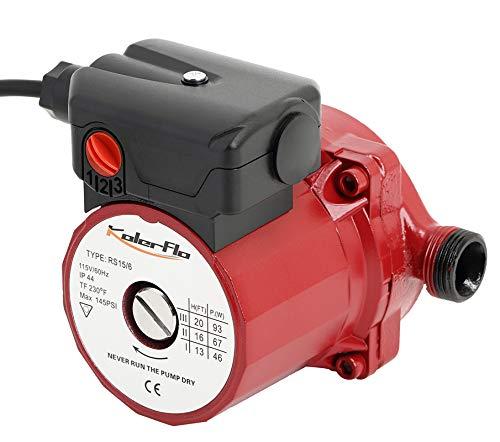 KOLERFLO 3/4 Inch Hot Water Circulating Pump 3-Speed Circulation Water Pump for Solar Heater...