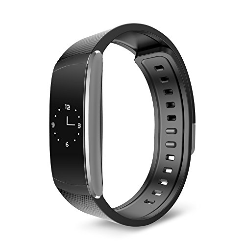 Yuntab,IWOWNfit I6 Pro Smartband, 24h Heart Rate Monitor/Fitness Tracker/Sleep Monitor, OLED Screen,Waterproof,Muti-Sport Management,Compatible for iOS/Android(Black-I6 Pro)