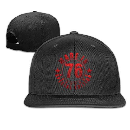 Adjustable Snapback Baseball Hat&Cap Made In 76 Black Hüte, Mützen & Caps