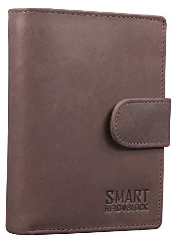 Koruma Mens Premium Genuine Leather Bifold Wallet Smart Credit Card...