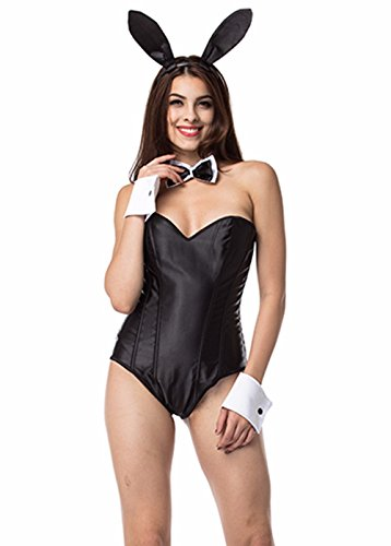 MISS MOLY Women's Character Cosplay Costume Corset Set Fancy Lingerie Bunny S