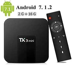 Android TV Box, Android 7.1 TV Box TX3 Mini 2GB/16GB Amlogic S905W Quad core 64 Bits WiFi Smart 4K TV Box