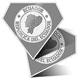 Impresionante pegatinas de diamante de 10 cm – Sellos de viaje Ecuador Sudamérica calcomanías divertidas para portátiles, tabletas, equipaje, reserva de chatarra, frigorífico, regalo genial #39988