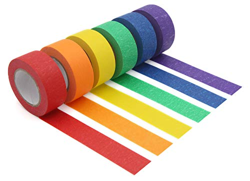 Colored Masking Tape,Colored Painters Tape for Arts &...
