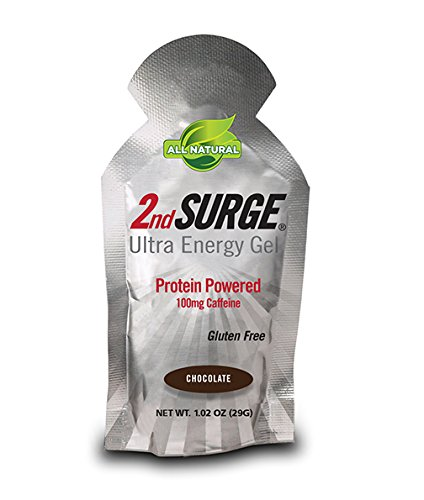 PacificHealth 2nd Surge All Natural Ultra Energy Gel - Box of 8, 1.02-Ounce Packets (Chocolate)