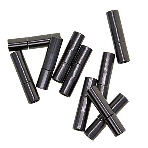 perfeclan 10 Piezas 3 Mm Broche de Bayoneta Tapas de Cierre Broche de Joyería para Cuentas de Cordón de Cuero