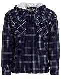 Thermohemd Arbeitsjacke Herren Holzfäller mit Kapuze Wärmeisolierend, Farbe:Navy, Größe:M