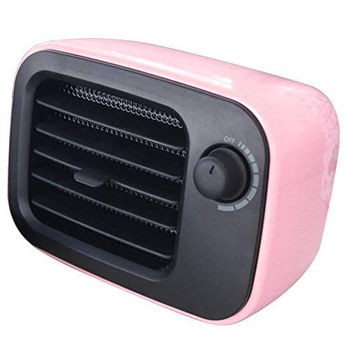 QINGRAN Tragbare Mini-Plug-In-Lüfterheizung 500W PTC Elektrischer Raumwärmer, Für Home Office Orange/US-Stecker Ndustrial Gebrauchte Schrankheizung, Pink, us