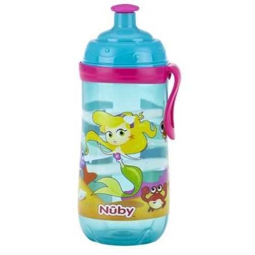 Nuby Sippy Cup Bouteille deau en acier inoxydable pour enfant Bleu brillant