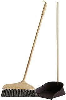 TBCML ロビーホームキッチンオフィスルームの床の使用のためのダストパンコンボとほうきとちりとりセットのアップライト、ほうき
