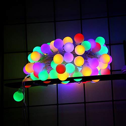 Lichtketting, feen, werkt op batterijen, rond, met ballen, USB, kleine kleur, accu 6 meter 40