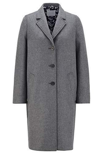 BOSS C_coluise Abrigo de mezcla de lana, Medium Grey30, 36 para Mujer