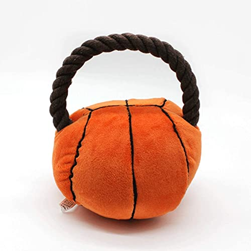 Juguetes chirriantes para mascotas, pelota de fútbol para perros de peluche, bola interactiva masticar juguetes (baloncesto)