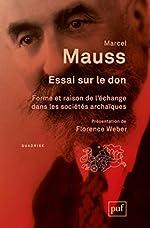 Essai sur le don de Marcel Mauss