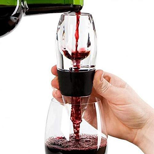 Aireador de vino tinto mini filtro mágico decantador esencial vino vino aireador rápido filtro tolva barra de filtro esencial equipo conjunto (color: negro)