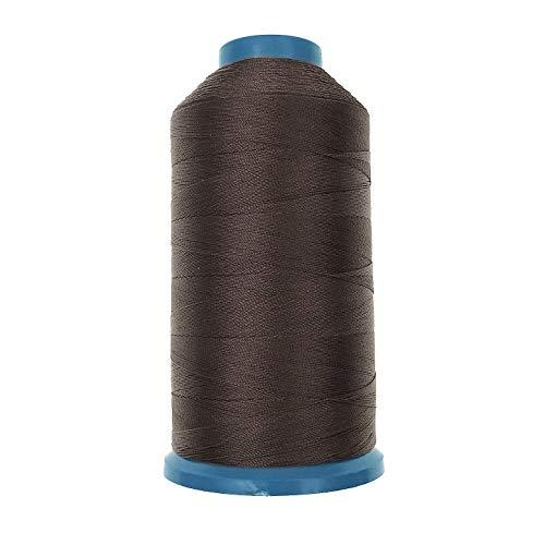 JZK 1500 yardas T70 69 # marrón fuerte durable enlazado hilo de coser de nylon para tapicería cuero jeans lona alfombra cortina rebordear para máquina industrial, overlock, costura a mano