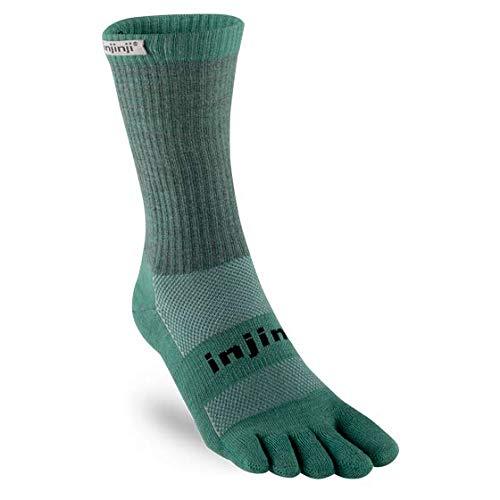 Injinji Outdoor Midweight Crew Socks (Small, Bluegrass)