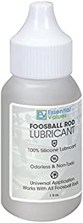 Foosball Rod Lubricant - 100% Silicone Lube for Foosball/Tornado Table Rods by Essential Values