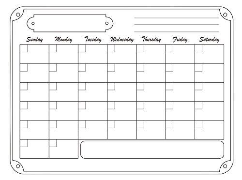 Koelkast Kalender Droog Wis Kalender Whiteboard Kalender voor Koelkast Planners :30 * 40* Horizontale editie 23 maanden plan