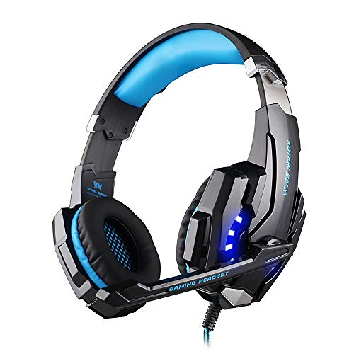 Adaskala G9000 3.5mm Noise Reduction Gaming Headset Replacement for PC Laptop Smartphone PS4 Switch with Audio Adapter Cable