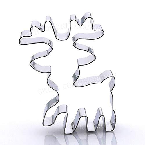 Reindeer Cookie Cutter - Stainless Steel