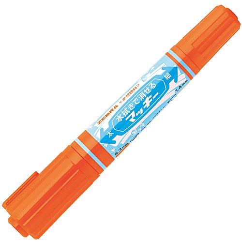 水拭きで消せるマッキー 10本 B-P-WYT17-OR [オレンジ]