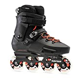 Rollerblade Twister Edge X Unisex Adult Fitness Inline Skate, Black and Orange, Premium Inline Skates, 9