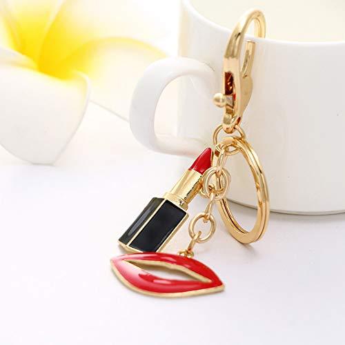 ZHTTCD strass charme rode lippenstift sleutelhanger auto sleutelhanger dames tas dames kleine geschenken