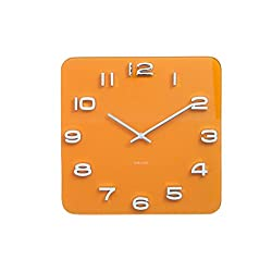 Karlsson Vintage, Wall Clock, us:one Size, Yellow