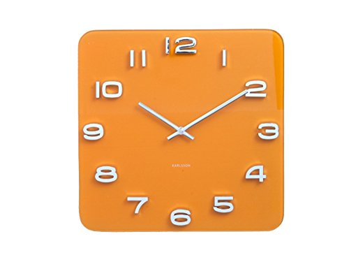 Karlsson Vintage Uhr, Wanduhr, Glas, Currygelb, One Size