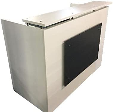 "DFS Reception Desk Shell which fits a 15"" Monitor - 60"" W by 30"" D by 44"" H White and Black Front"