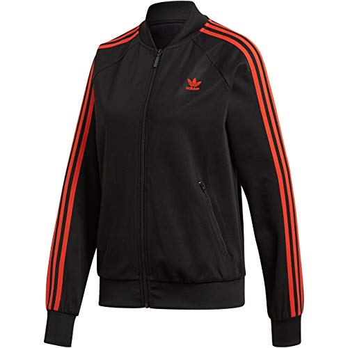 Adidas Superstar Track Top Jacket Black XS - Taille 36 - Noir et Orange