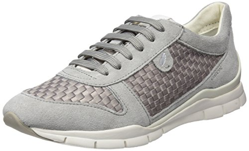Geox Damen D Sukie A Sneaker, Grau (Lt Grey), 36 EU