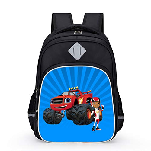 Blaze and The Monster Machines Popular Styles Backpack Sports Daypack Children Casual Travel Bag Backpack Boys High Capacity Backpack Girls Compact and Lightweight School Bag Kids
