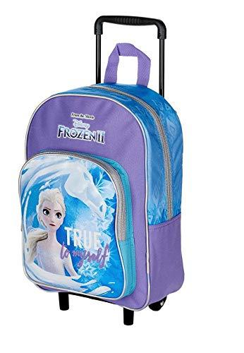 TROLLEY ZAINO asilo Scuola FROZEN II Elsa True to Myself Fedele a me stessa + Omaggio portachiave girabrilla