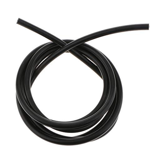 perfk 3 Meter 5 mm Unterdruckschlauch Vakuumschlauch Saugschlauch aus Silikon - Schwarz