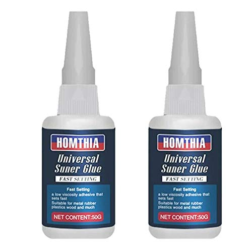 Uniglue Universal Super Glue, 2 Bottles Mighty Universal Glue for Resin Ceramic Metal Glass,Leather Shoe Super Glue All Purpose, Easy to Use Instant Super Glues (2 Bottles Blue)