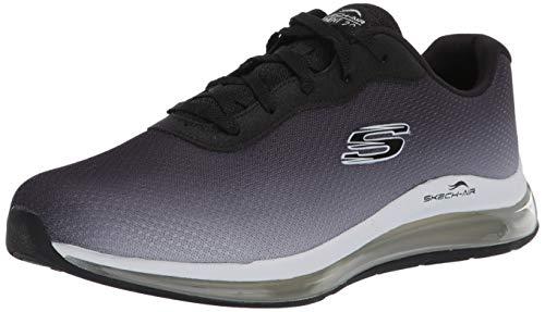 Skechers Skech-Air Element 2.0, Zapatillas Mujer, Negro Negro Negro Blanco Malla Ribete BKW, 38 EU