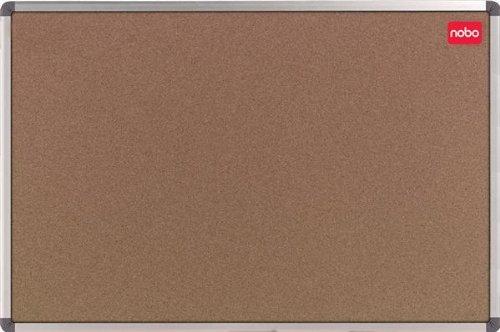 Nobo Elipse Office Pinnwand Kork mit Montagematerial und Aluminiumrahmen 1800 x 1200 mm